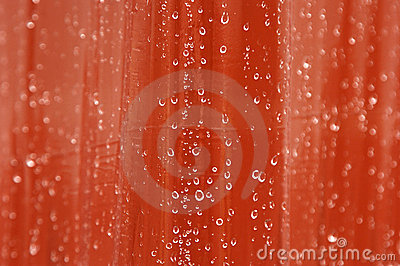 Water drops on curtain