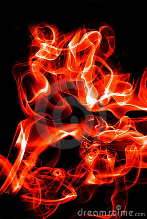 Abstract fire waves