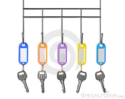 Keys with color trinkets