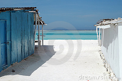Sun weathered Caribbean houses