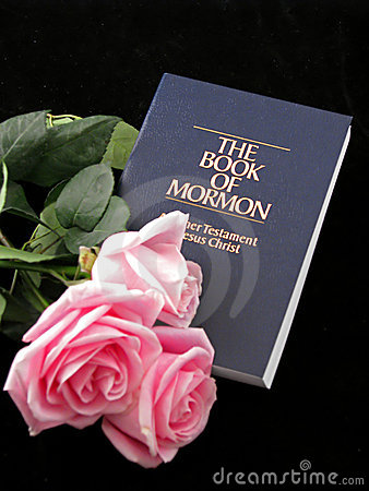 Book of mormon and roses