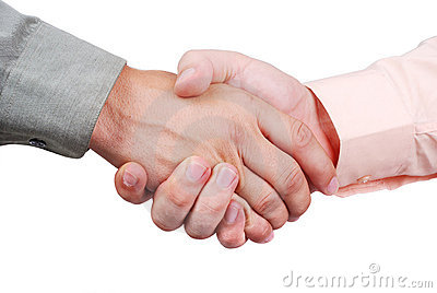 Two shaking hands