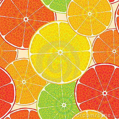 Abstract citrus high-detailed background. Seamless