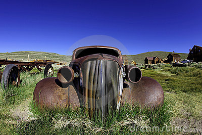 Vintage Rusted Old Car in Bodie California