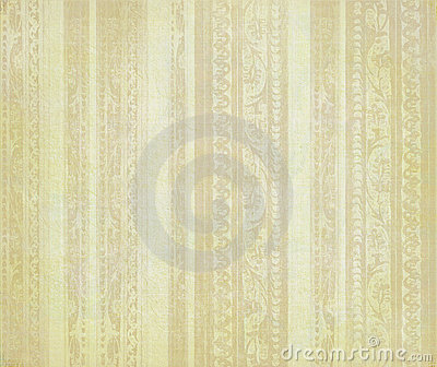 Pale brown floral wood carved stripes