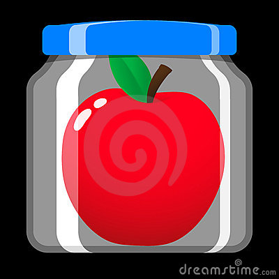 Apple in preserving jar
