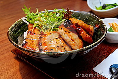 Japanese barbecue pork with rice