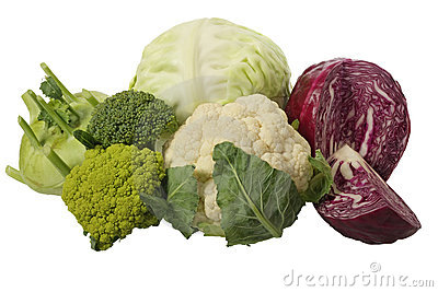 Different cabbage varieties
