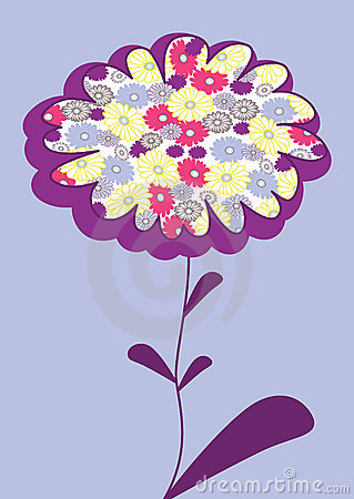 Vector picture with flower