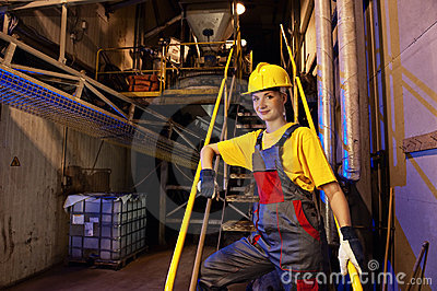 Factory female worker