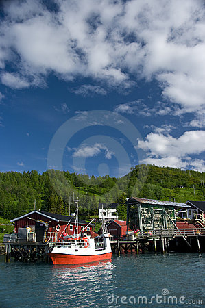 Fishing boat and wharf