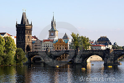 View at the historic center of Prague