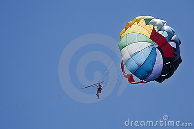 Paragliding sport during vacation