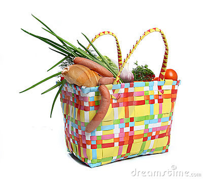 The bag with food