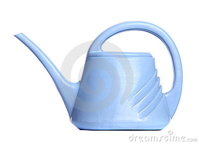 The blue watering-can