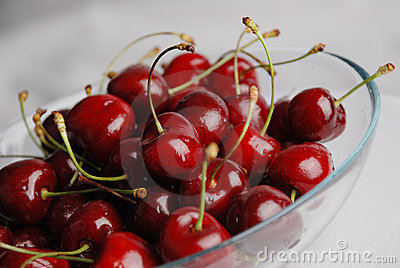Cherry in the plate