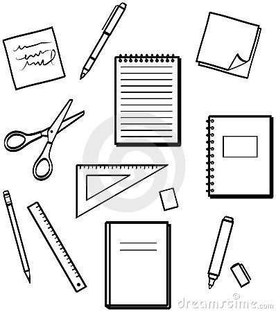 Office supplies - Vector illustrations