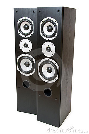 Two speakers isolated