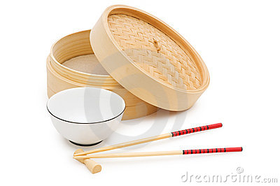 Chinese dining set isolated