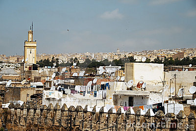 View on the city of Fez, Morocco