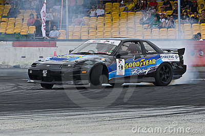 Ariff Drifting during Formula Drift Singapore