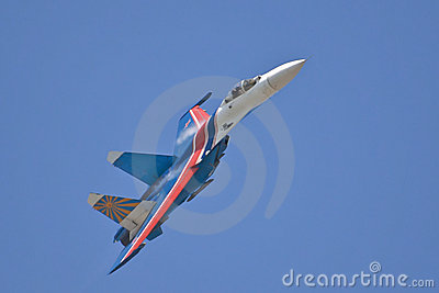 The Russian Knights in air