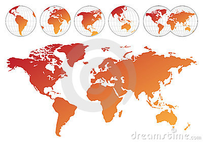 Highly detailed map of the world