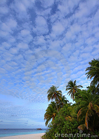 Nice clouds in paradise