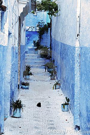 Detail from typical house in Chefchaouen, Morocco