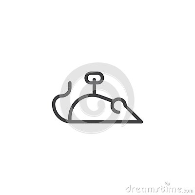 Mouse toy line icon