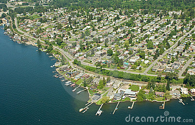 Over Residential Area of Seattle