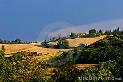 Bad wheater in the hills of toscane