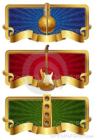 Musical golden banners