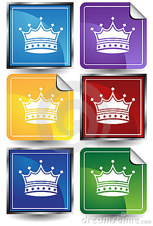 3D Sticker Set - Crown
