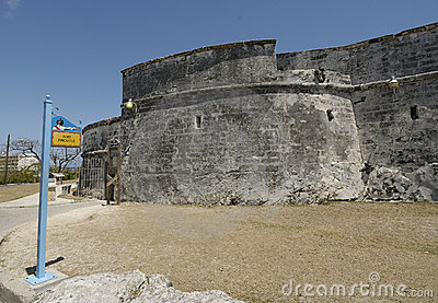 A historic fort in the Bahamas