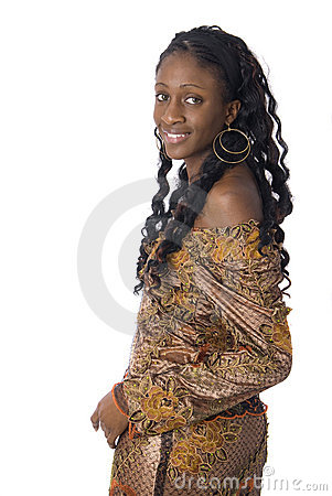 African woman wearing african clothes