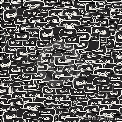 Vector grunge background with eyes