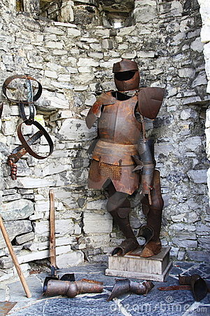 Armour and weapons on the walls