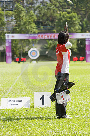 Women's Archery Action