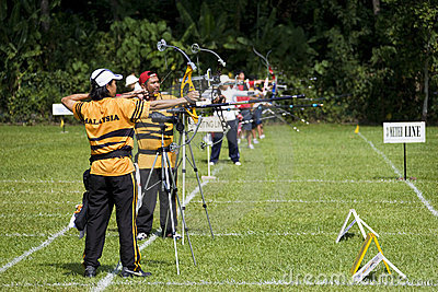 Men's Archery Action