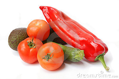 Fresh vegetables isolated
