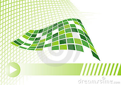 Business card concept in green with net