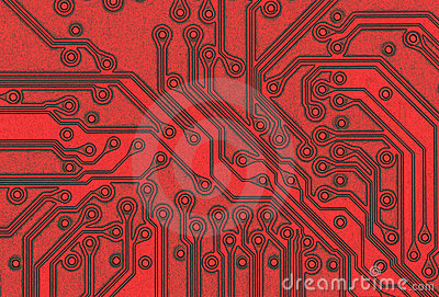 Closeup of a circuit board