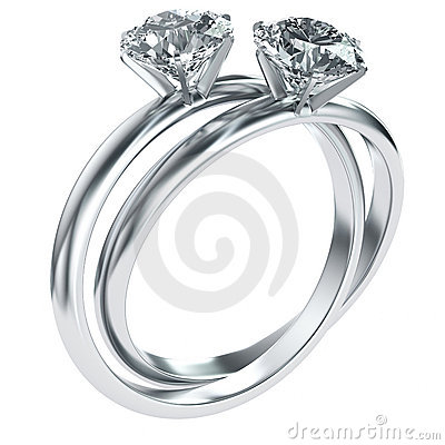 Diamond rings intertwined