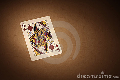 Cards background. Queen