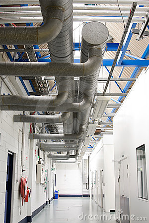 Industrial air-conditioner pipes sistem