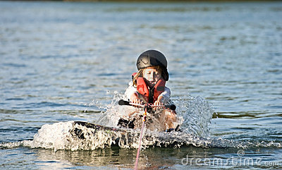 Young Girl Wakeboard/ Pulling Up