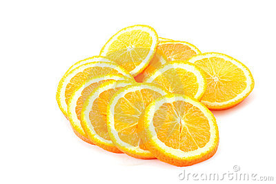 Many sliced oranges