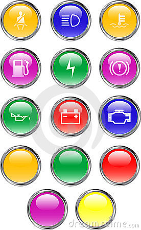 Automobile Dashboard Buttons