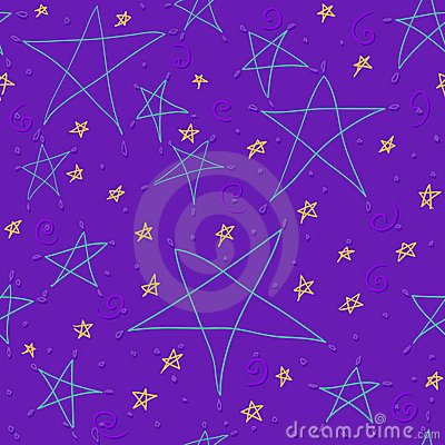 Hand drawn star background